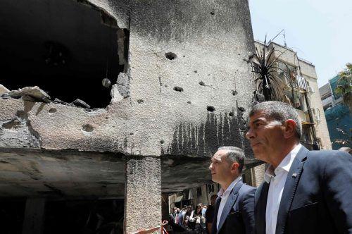 Heiko Maas (l.) traf seinen israelischen Amtskollegen. AFP