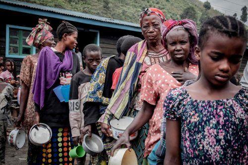 Hunderttausende Menschen sind auf der Flucht vor Vulkan Nyiragongo.AFP