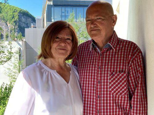 Ihren 50. Hochzeitstag feiern Waltraud und Josef Sussitz mit Sohn Rene, Schwiegertochter Monika und den Enkelkindern Jacqueline und Jerome.