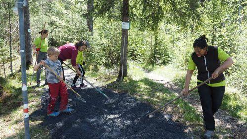 Im Galinawald zwischen Nenzing und Frastanz wurde kürzlich eifrig gearbeitet und alles wieder in Schuss gebracht.HE