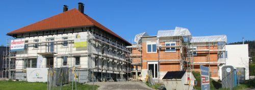 Im Sommer wird im Hohenweiler Zentrum das umgestaltete Maurer-Haus fertiggestellt. Die zusätzlichen Objekte sollen Anfang 2022 folgen.