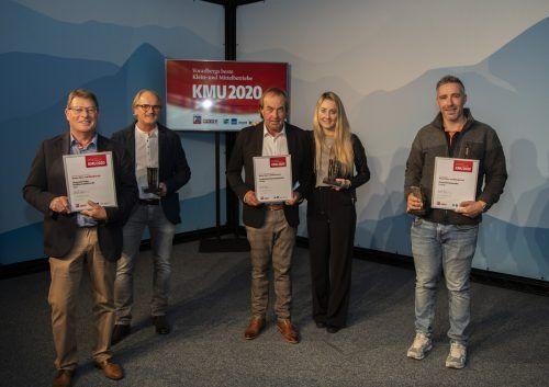 Im vergangenen Jahr ging die Preisverleihung digital über die Bühne. Die Gewinner der einzelnen Branchen konnten dennoch vor vielen Gästen geehrt werden. VN/RP