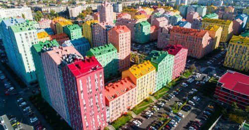 In Zukunft könnten Häuserfassaden so schön bunt aussehen. Shutterstock