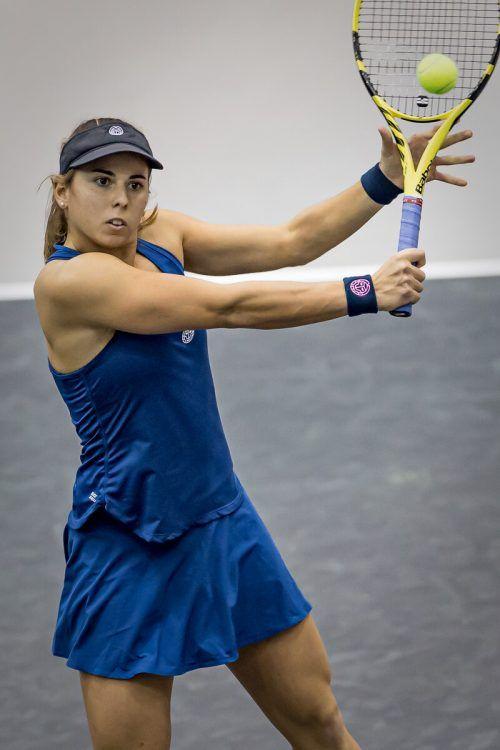 Julia Grabher setzte sich in Runde eins der Paris-Qualifikation glatt durch.GEpa