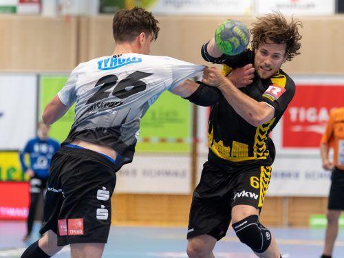 Kapitän Lukas Frühstück und die Bregenzer Handballer wurden für ihren heroischen Kampf am Ende nicht belohnt.GEPA