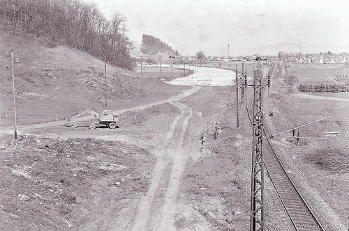 Koblach, Autobahnbau, 1968