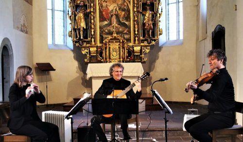 Konzert mit Uraufführung: Claudia Christa, Alexander Swete und Klaus Christa in der Kirche St. Arbogast. ju