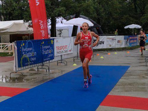 Larissa Burtscher holte in Caorle als 21. ihre ersten Europacuppunkte. VTRV