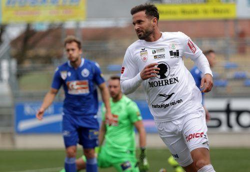 Lukas Katnik bleibt dem FC Dornbirn noch eine Saison erhalten.gepa