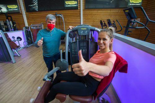 Maria und Karl freuen sich auf ihre Trainingseinheiten. VN/Steurer