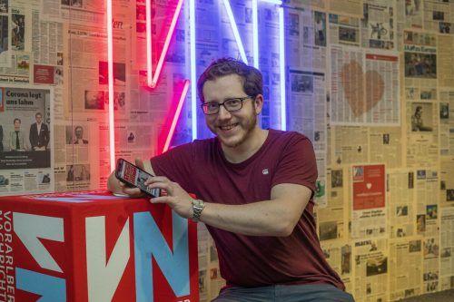 Matthias Rauch ist einer von mehreren VN-Journalistinnen und Journalisten, die über das Traineeprogramm den Weg in die Redaktion gefunden haben. VN/Paulitsch