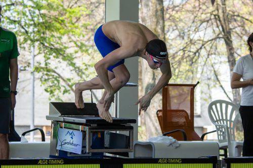 Max Halbeisen von der TS Dornbirn Schwimmen zeigte sich wieder in Topform.cth
