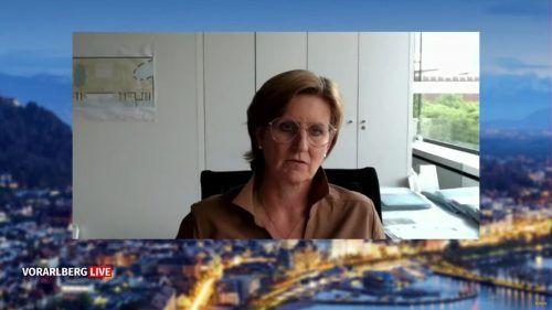 Messe-Geschäftsführerin Sabine Tichy-Treimel zu Gast bei Vorarlberg live. VN
