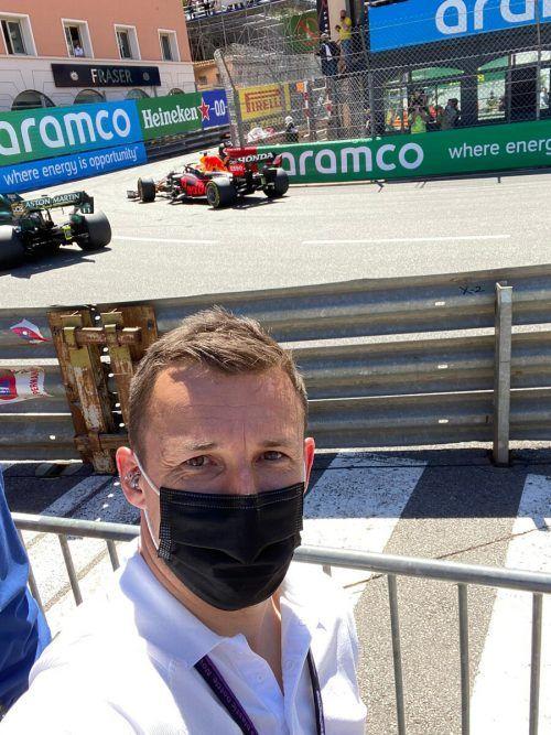Nahe am Geschehen: Christian Klien analysiert den Monaco-GP.VN