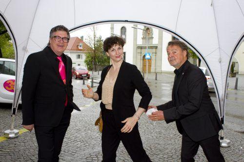 Organisator Dieter Heidegger, Künstlerische Leiterin Susanne Claus und Präsident Günter Bucher.