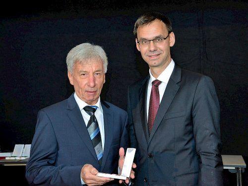 Orgelexperte Bruno Oberhammer bekam von Landeshauptmann Markus Wallner das Große Verdienstzeichen des Landes verliehen.Gmeinde