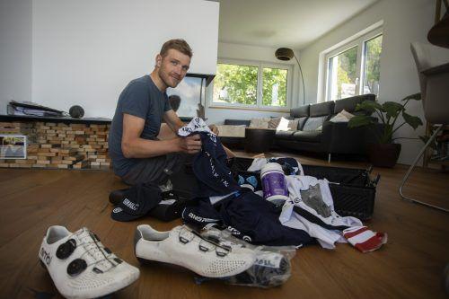 Packen hieß es zuletzt für Matthias Brändle vor der Abreise zum Giro.Paulitsch/2