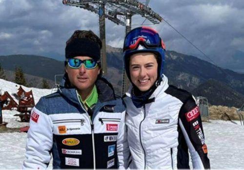 Petra Vlhova vertraut neu auf Trainer Mauro Pini.FB/PV