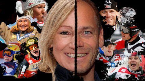 Renate Götschl und Michael Walchhofer rittern um die Nachfolge von Skiverbandspräsident Peter Schröcksnadel.GEPA