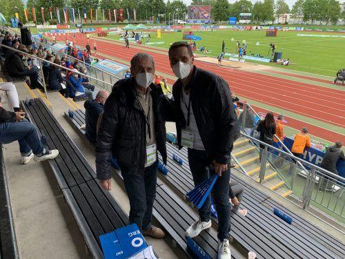 Roman Sebrle blickte mit Konrad Lerch auf seinen Fabelrekord 2001 zurück.