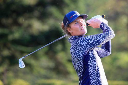 """Sarah Schober gewann im """"Best of three""""-Modus den K.-o.-Bewerb auf Loch vier. gepa"""