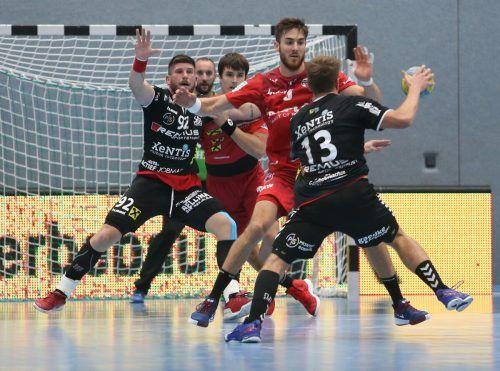 Schlüsselspieler ihrer Teams (v. l.): Jadranko Stojanovic, Golub Doknic, Ivan Horvat, Boris Zivkovic und Sebastian Hutecek.Hartinger