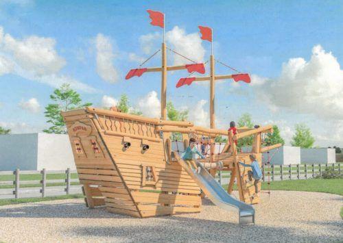 Die Sanierung des Sulner Piratenspielplatzes und die Anschaffung eines Schiffes wie auf dem Bild sind beschlossene Sache. Gemeinde