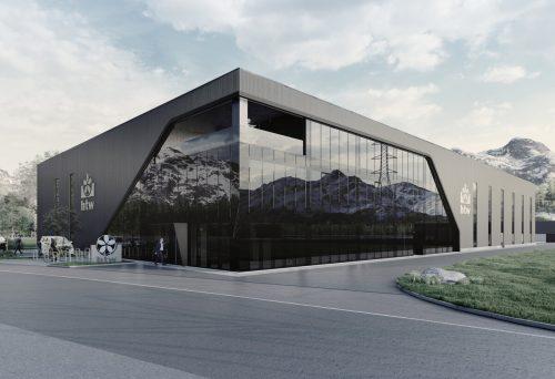 So wird der neue Produktionsstandort von HTW in Nüziders zukünftig aussehen. Damit wird das Platzproblem des Unternehmens gelöst. Goldbeck Rhomberg