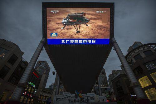 Staatliche chinesische Medien haben die erste Landung eines Raumfahrzeugs als großen Erfolg gefeiert. ap