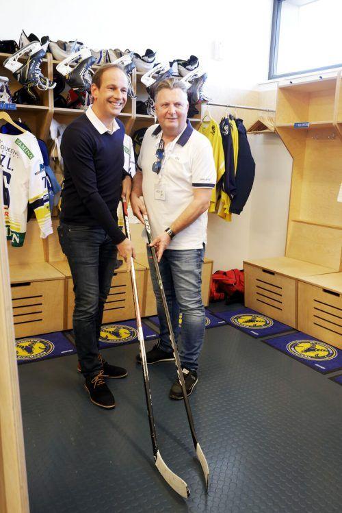 Stadtrat Friedl Dold (rechts, mit Bürgermeister Dieter Egger) war seit 2010 für die Sportagenden der Stadt zuständig. Stadt