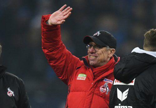 Stöger nach seinem bisher letzten Spiel als Kölner Trainer – im Dezember 2017.GEPA