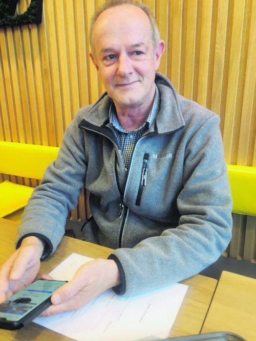 Unternehmer Albert Schett wartet seit Monaten auf Geld. VN/sca
