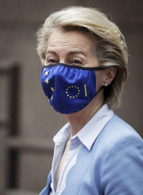 Ursula von der Leyen stellte die Pläne auf dem EU-Gipfel vor. AP