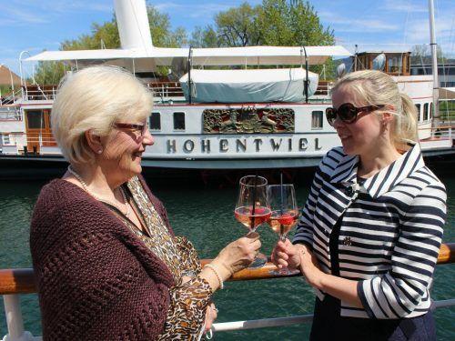 Voraussichtlich Anfang Juni soll bei der Historischen Schifffahrt Bodensee auch auf den Saisonstart der Hohentwiel angestoßen werden. STP/3