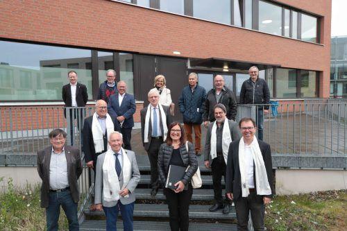 Vorstand und Beiräte der Bruderschaft nach dem Bruderschaftstag der katholischen Bruderschaft St. Anna und St. Arbogast.Meusburger