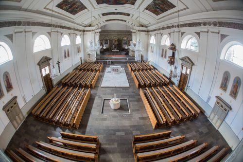 Während der Pandemie war die Kirche St. Martin meist leer, das soll sich nun wieder ändern.VN/Steurer