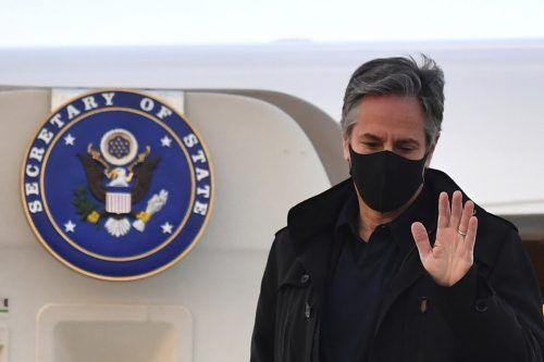 """""""Was wir aber in den letzten Jahren erlebt haben, ist, dass China im Inland repressiver und im Ausland aggressiver agiert"""", meinte US-Außenminister Blinken. AP"""