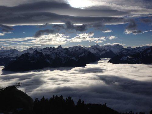 Wolkenstimmung über dem Walgau. Ulrich Geltner