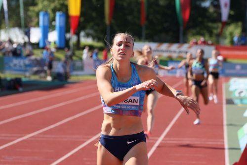Xenia Krizsan war im letzten Bewerb, dem 800-m-Lauf hellwach, lief dem Rest des Feldes davon und zum Sieg. ???