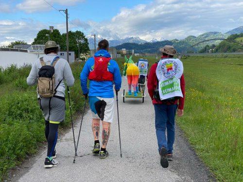 Zu fünft ging es am Samstag von Bregenz nach Feldkirch.