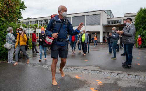 800 Kilometer und einen Monat trennen Harald Purkart von seinem Ziel. Der Zustand in den Flüchtlingslagern sei nicht zu vertreten, ist der 61-Jährige überzeugt. VN/Lerch