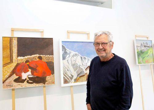 Allsport-Seniorchef Ludwig Ludescher lädt zu einer besonderen Kunstausstellung nach Weiler ein.Privat