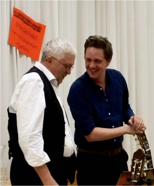 Anton und Philipp Lingg freuen sich auf das Walgauer Publikum.Bibliothek Satteins