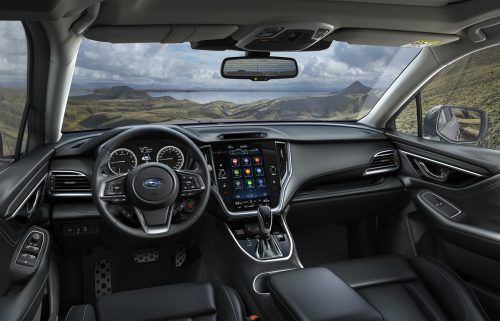 Auch bei Subaru: hochkant gestelltes Zentral-Touchdisplay mit duchschaubar angeordneten Funktionen.