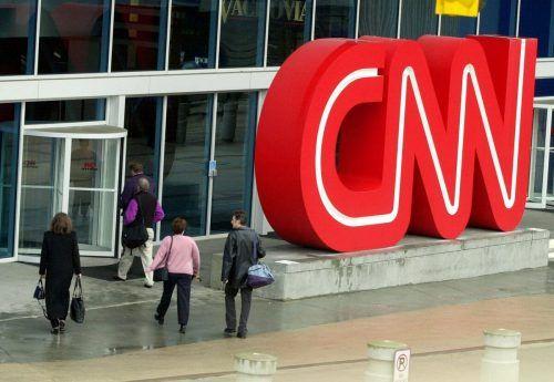 Auch CNN war zeitweise nicht erreichbar. ap