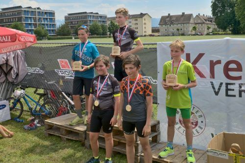 Auch die Jungs RV DJ´s Bikeshop Simplon Hard zeigten starke Leistungen beim Rundkurs bei der Kammgarn-Fabrik.