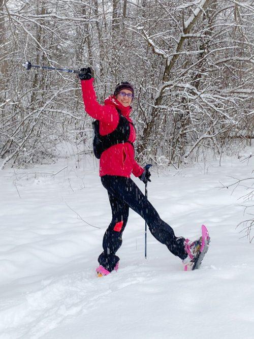 Auch im Winter ist sie sehr sportlich unterwegs.