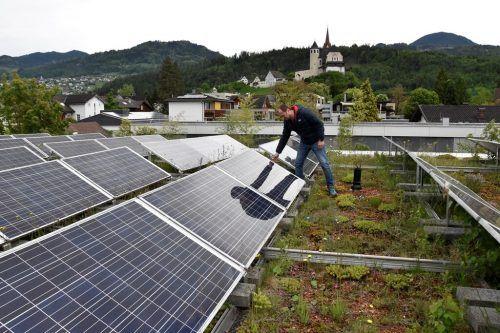 Auf dem Dach des Hauses Klosterreben gibt es bereits eine Photovoltaikanlage. Im Frühsommer soll eine weitere auf dem Feuerwehrgebäude errichtet werden. oswald/gemeinde