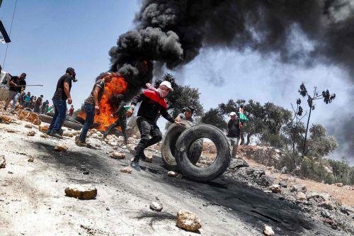Ausschreitungen im Westjordanland: Ein 15-Jähriger wurde nach palästinensischen Angaben von israelischen Soldaten erschossen. AFP