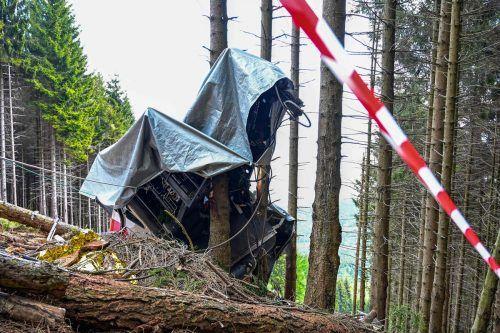 Bei dem Seilbahnunglück im Piemont kamen 14 Menschen ums Leben. AFP